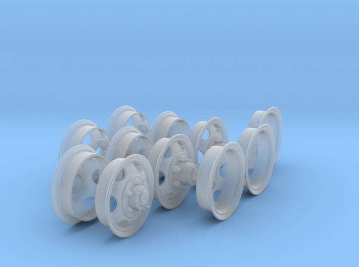 1-18 GMC 750x20 Rim Complete Set 3d printed