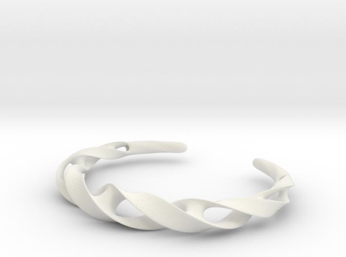 Ribbon Möbius bracelet - Medium 3d printed