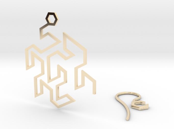 Gosper Earring 3d printed