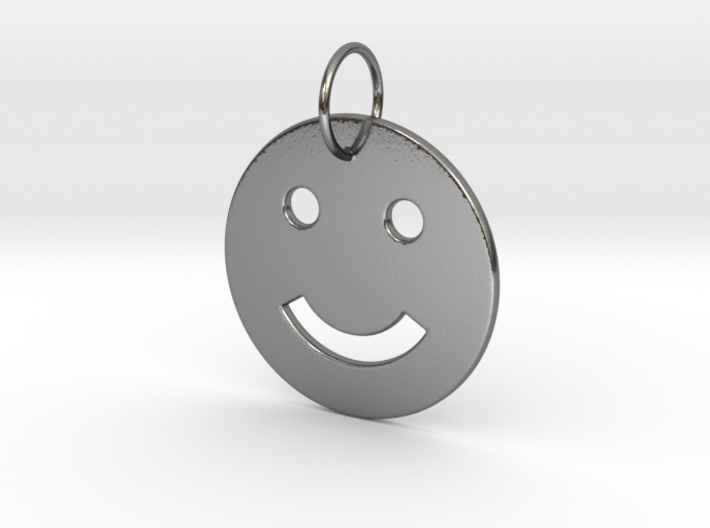 Smiley Pendant 3d printed