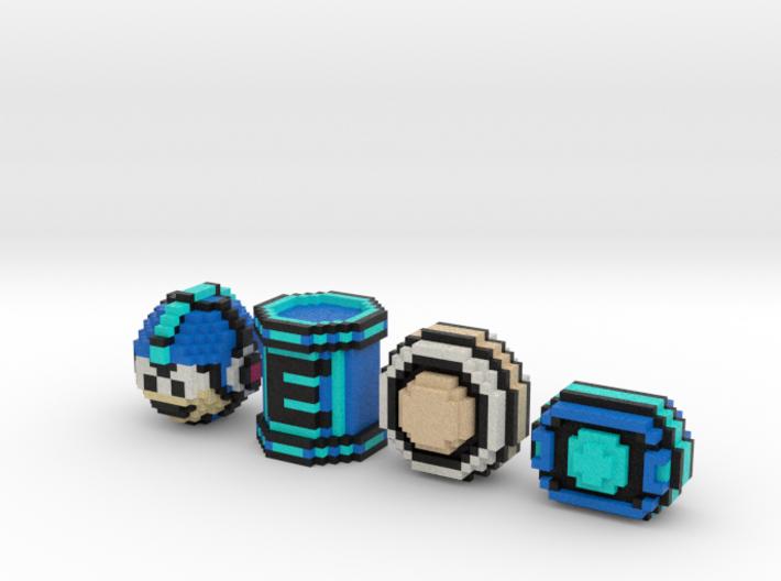 Mega Man Items (Set) 3d printed