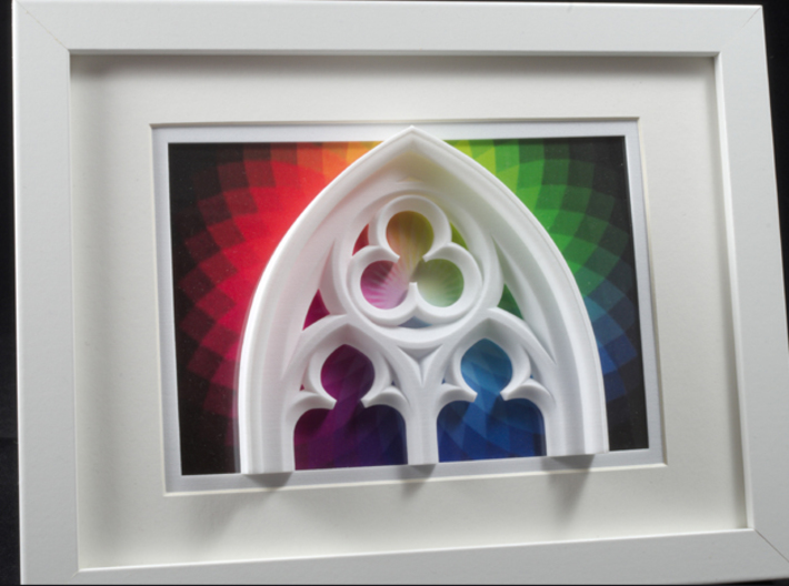 Gothic Window Detail  3d printed Frames and background pictures are not included!!