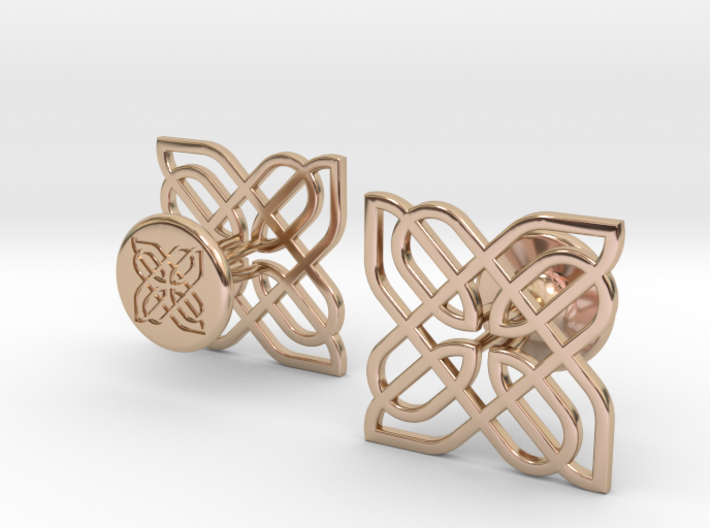CELTIC KNOT CUFFLINKS 021216 3d printed