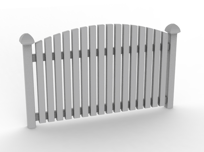 Fence 02. HO Scale (1:87) 3d printed Fence in HO scale