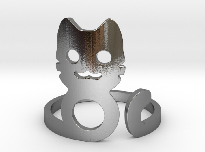 Meow Ring 3d printed
