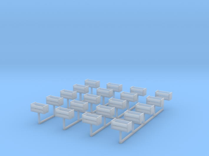 Orange Shipping Crate Set HO (No Lids) 3d printed