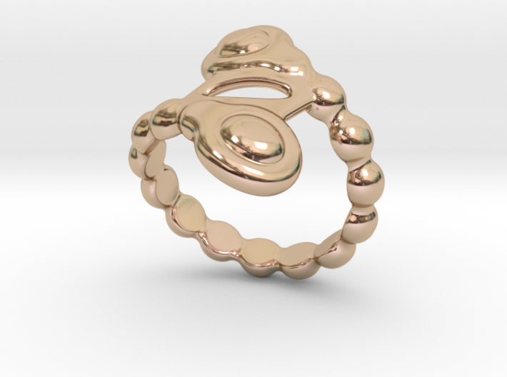 Spiral Bubbles Ring 23 - Italian Size 23 3d printed