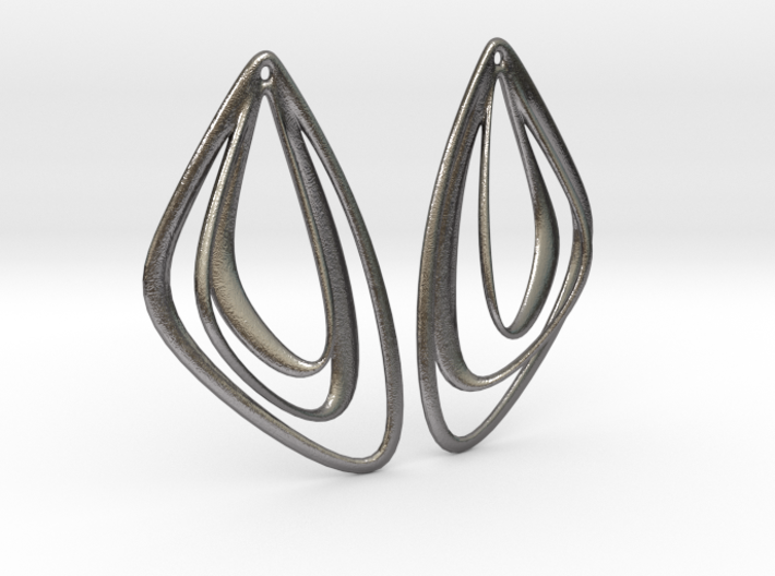 The Minimalist Earrings Set I (1 Pair) 3d printed