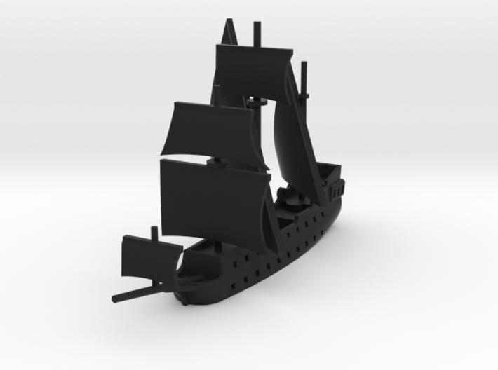 1/1000 Pirate Ship 3d printed