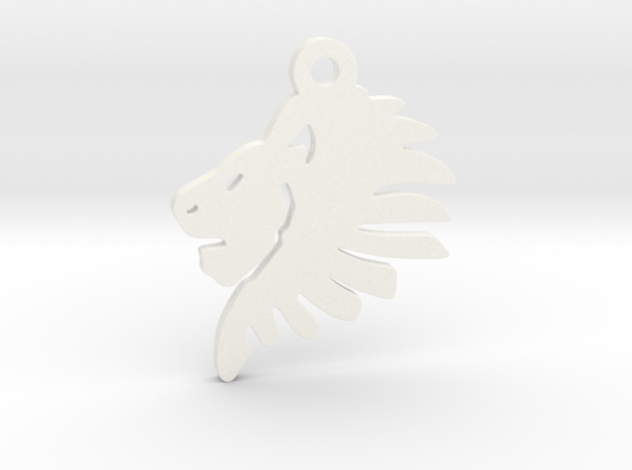 Lionhead Pendant 3d printed