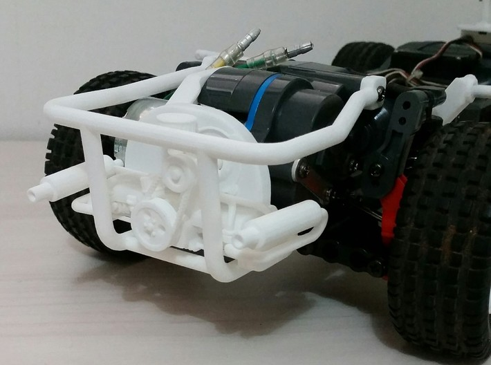 TAMIYA MF01X ENGINE REPLICA AND REAR CAGE  3d printed