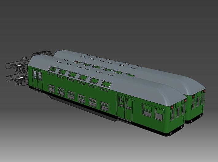 1:220 PKP Doppelstockzug zweiteilig für Spur Z 3d printed