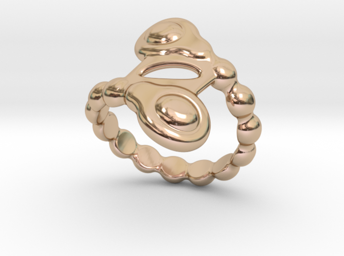 Spiral Bubbles Ring 26 - Italian Size 26 3d printed
