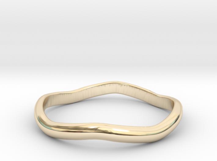 Ring Weaved Shape Design Size 6.5 3d printed