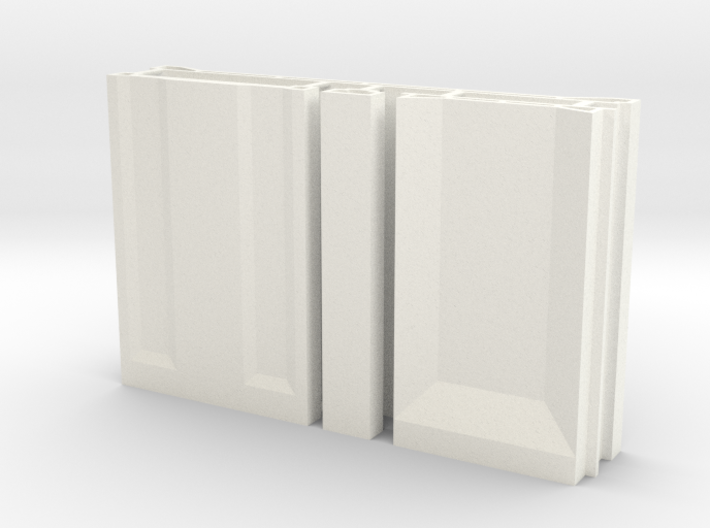 SciFi Pillar And Walls - Basic Wall Set Hollow 3d printed