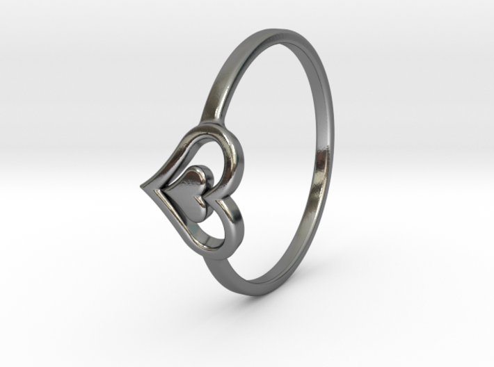 Heart Ring Size 8.5 3d printed