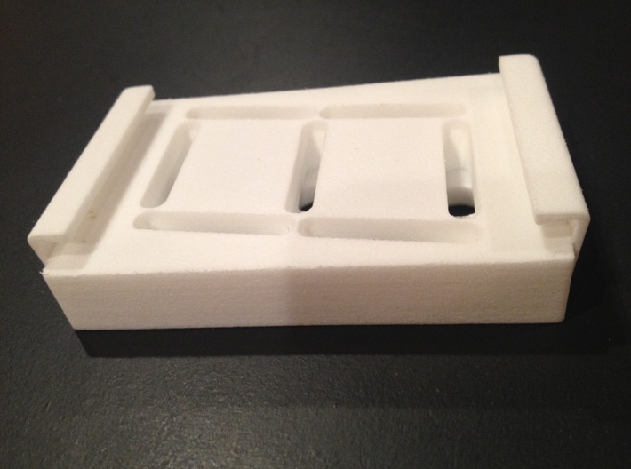 Skee Ball Ball Count Display Cover 3d printed Side view of printed part