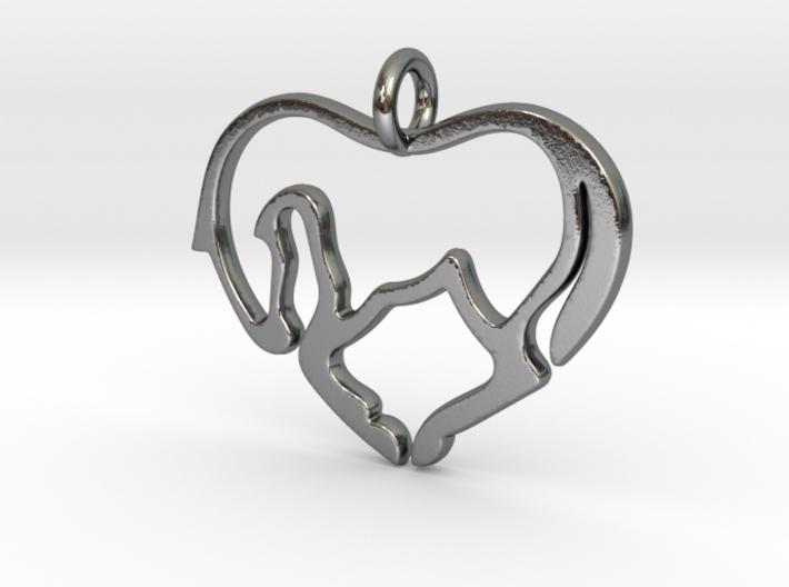 Horse Lover Pendant 3d printed