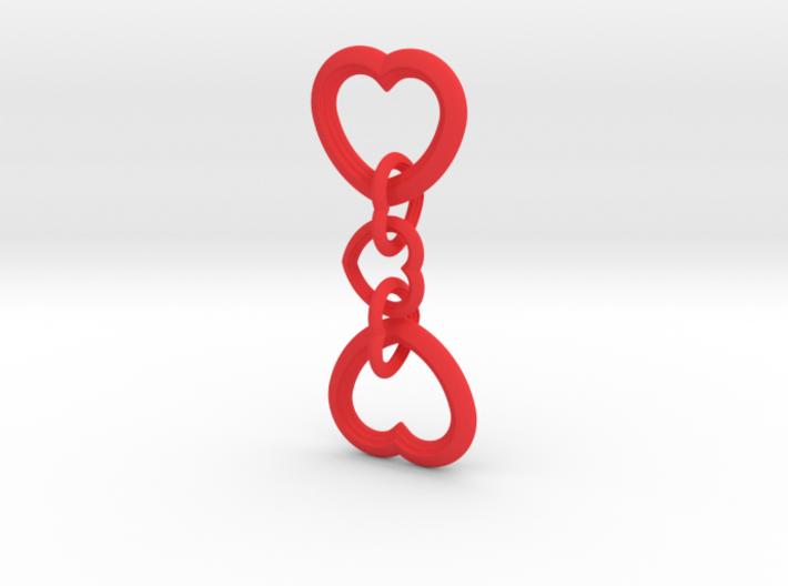 Valentine's Interlocking Hearts 3d printed
