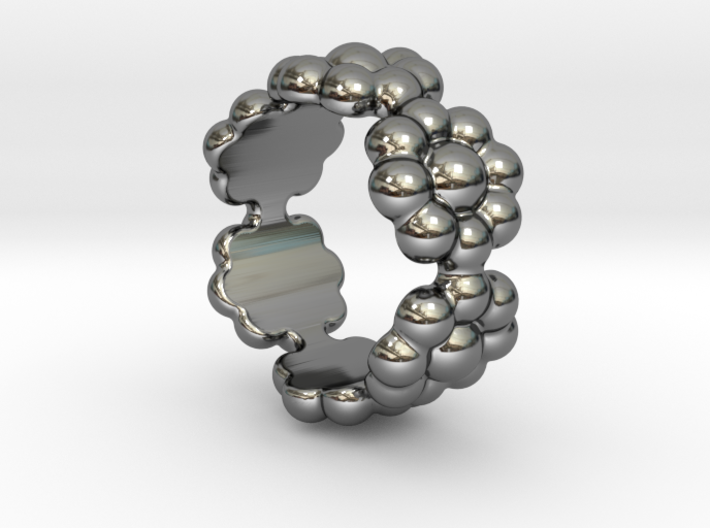 New Flower Ring 16 - Italian Size 16 3d printed