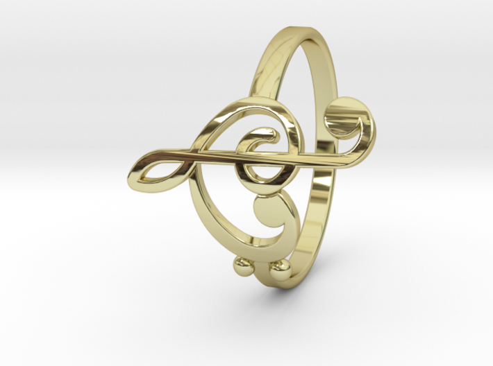 Size 7 Clefs Ring 3d printed