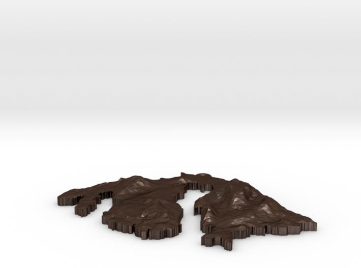 Orcas Island Pendant 3d printed