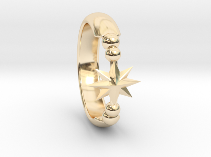 Ring of Star 14.9mm 3d printed