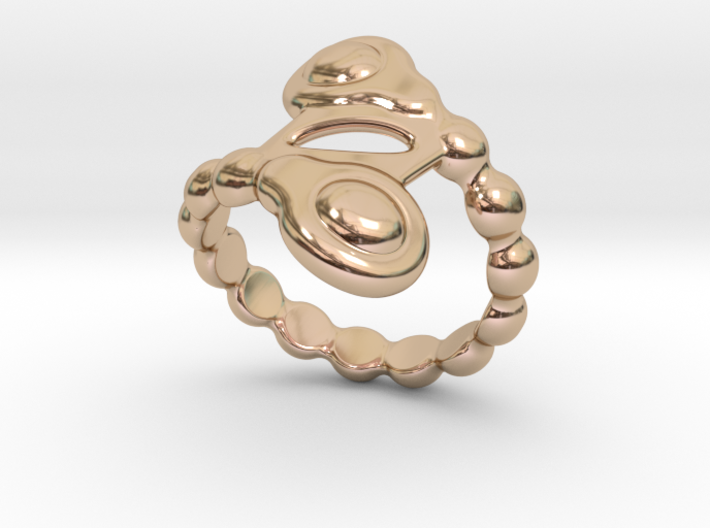 Spiral Bubbles Ring 31 - Italian Size 31 3d printed