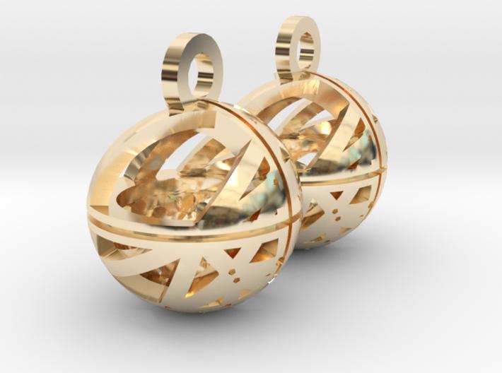 Craters of Mars Earrings 3d printed