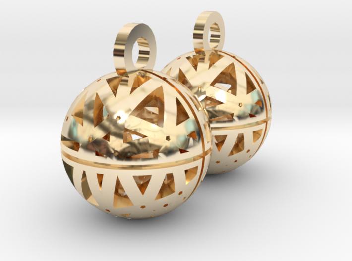Craters of Venus Earrings 3d printed