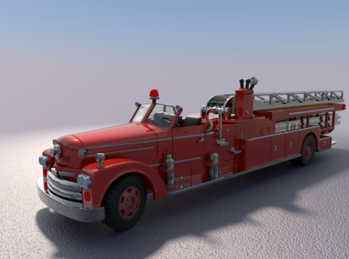 Seagrave 1951 1:87 3d printed Digital model preview