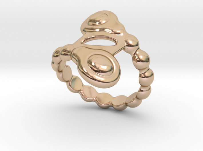 Spiral Bubbles Ring 32 - Italian Size 32 3d printed