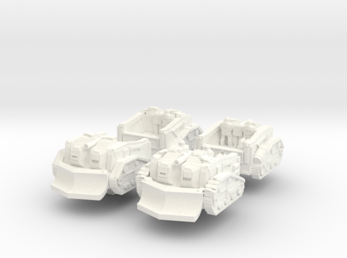 Mustang Scout Tractor (Alternate Set) 3d printed