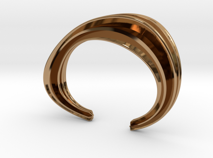 The Comfort Sculptural Cuff 3d printed