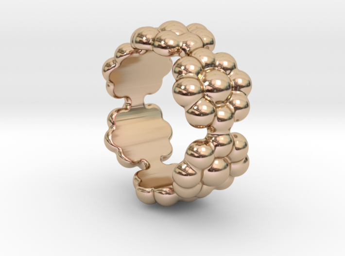 New Flower Ring 24 - Italian Size 24 3d printed