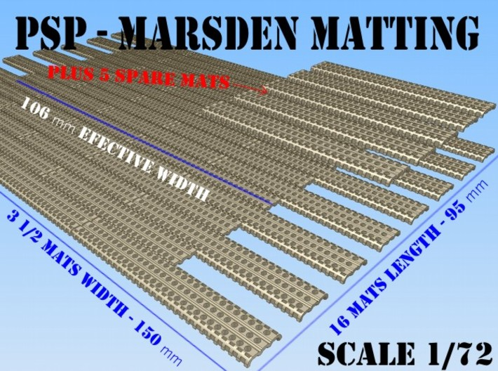 1-72 Marsden Matting Section 3d printed
