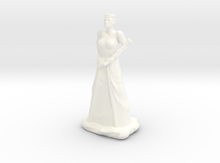 Queen with Sceptre 3d printed