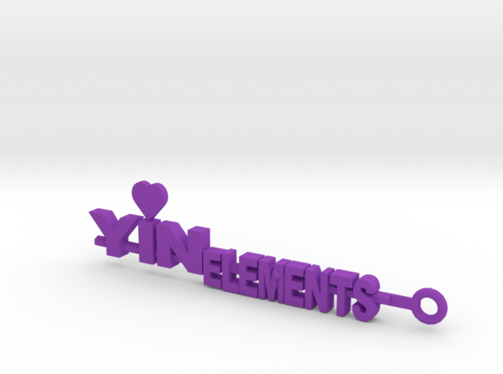 Yinelements Keychain 3d printed