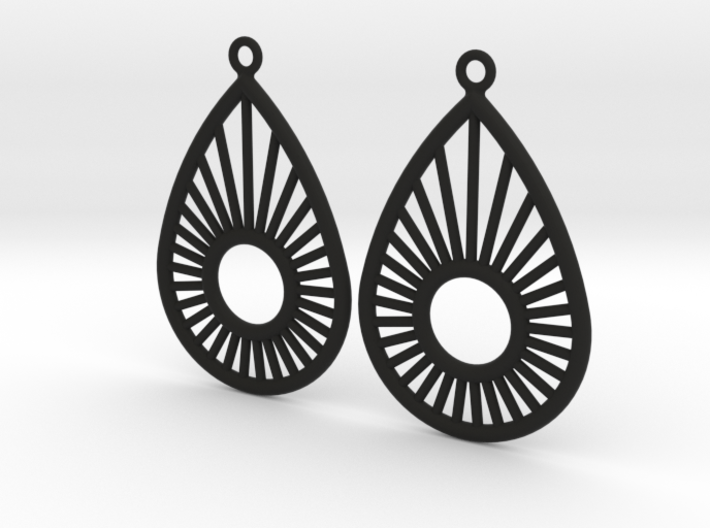Sunrise Pear - Earrings 3d printed