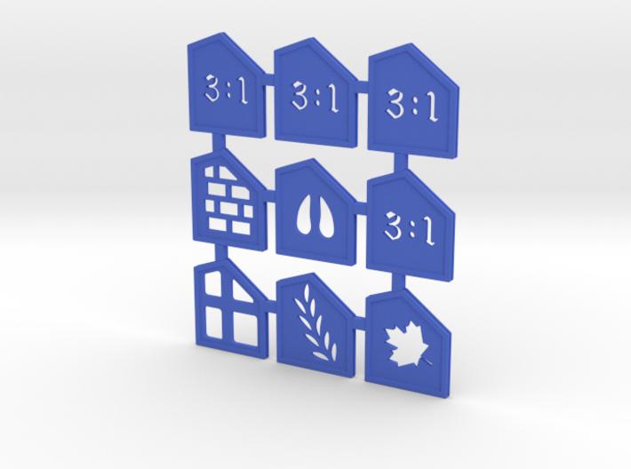 Catan 9 Port Tile Set 3d printed