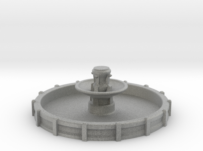 Large N/OO Scale Fountain 3d printed