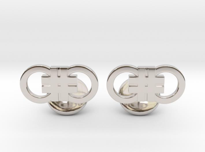 Hashcuffs Cufflinks 3d printed