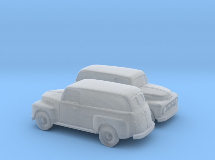 1/160 2X 1952 Ford Panel Truck 3d printed