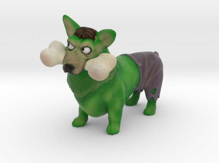The Incredible Corgi (Hulk Corgi)  3d printed