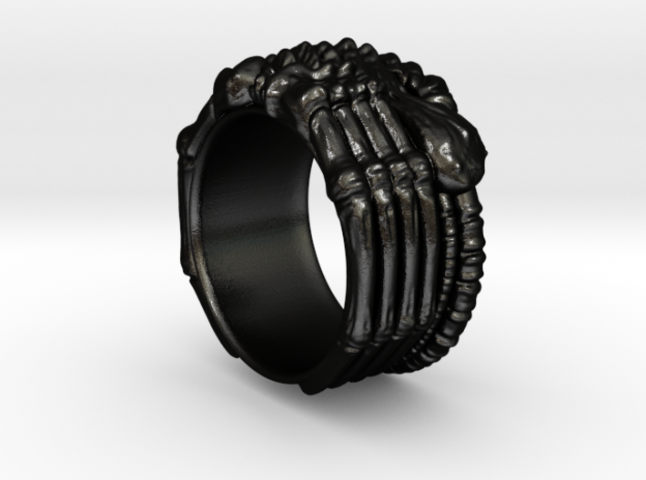 Alien FaceHugger ring SIZE 8 US 3d printed