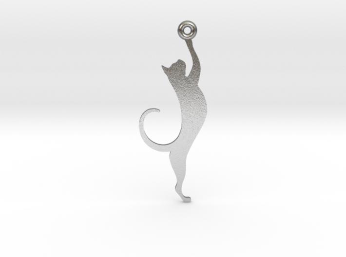 Cat Earring 3d printed