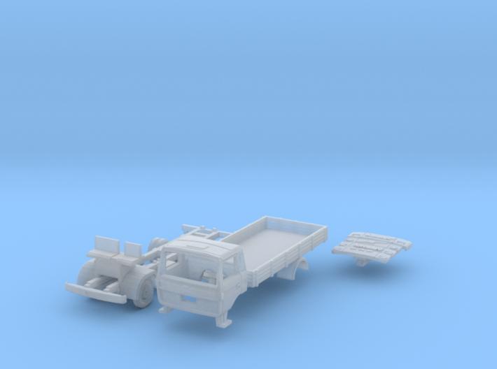Vierer-Club-LKW Pritsche (N 1:160) 3d printed