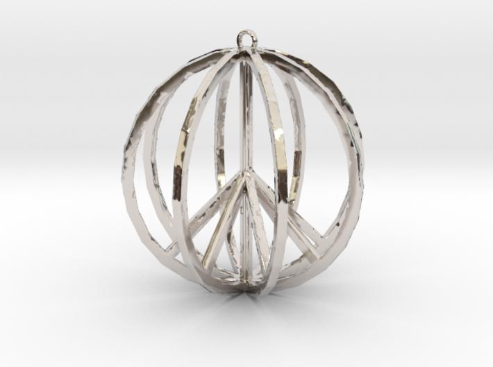 Global Peace Pendant deSign 3d printed