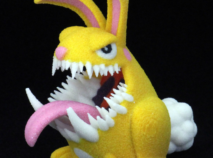 Monster Bunny #1 3d printed Test print at size listed
