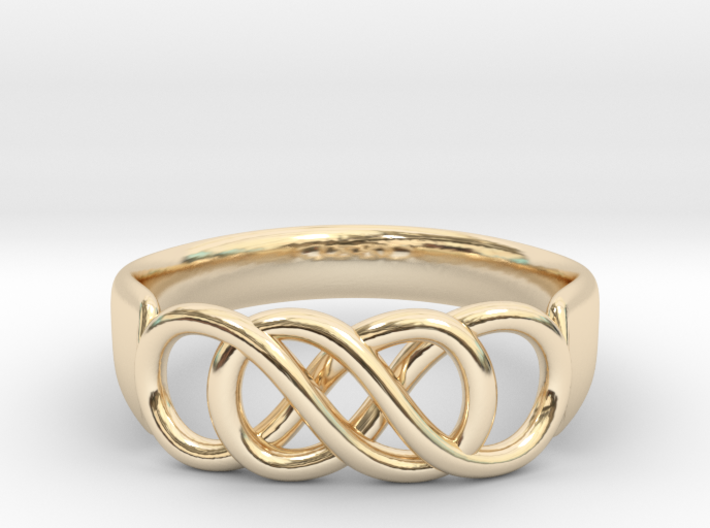 Double Infinity Ring 15.7 mm Size 5 3d printed